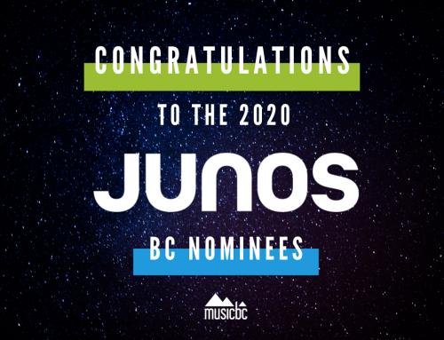 Congrats to the 2020 BC JUNO Awards Nominees!